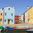 Glimpse of Burano Island, Venice - Stock Photo