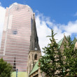 Royalty-Free Stock Photo: Christ Church Cathedral and KPMG Tower in Montreal