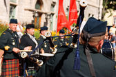 Gagetown pipes and drums band in Quebec City — Stock Photo