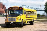 School bus in Montreal — Stock Photo