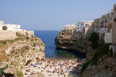 Polignano a Mare beach, Italy — Stock Photo