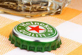 Heineken beer metal cap — Stock Photo