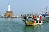 Fishermen at Port of Marina di Ravenna, Italy — Stock Photo