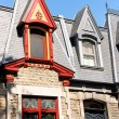 Colorful victorian houses in Montreal, Canada — Stock Photo #28003577