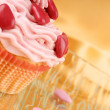Fancy Valentine's Day cupcake — Stock Photo