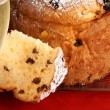 Panettone and Spumante for Christmas — Stock Photo