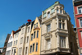 Old houses in downtown Aachen, Germany — Stock Photo