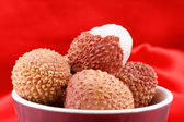 Litchis or lychees — Foto de Stock