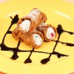 Mini sicilian cannoli — Stock Photo