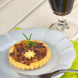 Stock Photo: Mini quiche with trevisano chicory