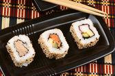 Sushi japonês maki — Foto Stock