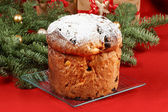 Panettone the italian Christmas fruit cake — Stock Photo
