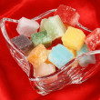 Colorful mixed fondant candies — Stock Photo