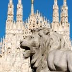Piazza del Duomo in Milan, Italy — Stock Photo #29216223