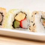 verschiedene Maki Sushi Rollen — Stockfoto