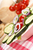 Fresh mixed salad — Stock Photo