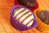 смешанные шоколадное пралине — Стоковое фото