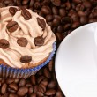 Stock Photo: Coffee cupcake and espresso