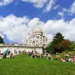 Stock Photo: Basilicof Sacred Heart (Basilique du Sacre-Coeur) in Paris