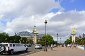 Pont Alexandre III and the Grand Palais in Paris, France — Stock Photo