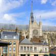 Downtown and Our Lady of Amiens Cathedral in France — Stock Photo