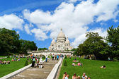Basilica of the Sacred Heart (Basilique du Sacre-Coeur), Paris, — Stock Photo
