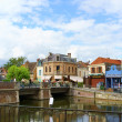 Quai Belu, Saint Leu Quarter in Amiens, France — Stock Photo #41664617