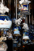 Glass ornaments at Christmas Market in Bolzano, Italy — Stock Photo