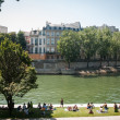 Seine embankment — Stock Photo