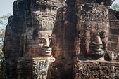 Smiling faces in Bayon — Stock Photo
