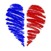 Heart drawing — Stock Photo
