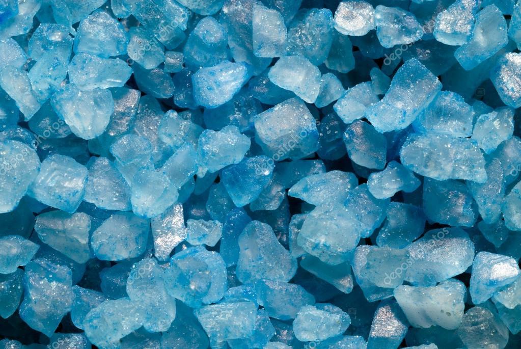 Голубые кристаллы — стоковое фото ...