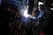 Industrial welding — Stockfoto