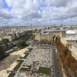 Paris from high angle view - Stock Photo