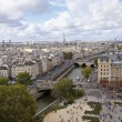 Paris from high angle view — Stock Photo