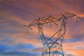Power line pylons — Stock Photo