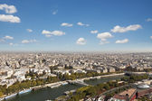 Roofs of Paris from high angle view — Stock Photo