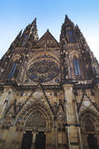 St Vitus Cathedral facade Prague's Castle — Stock Photo