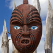 Stock Photo: New Zealand maori mask