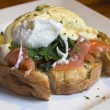 Постер, плакат: Egg benedict with salmon