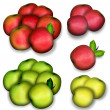 Stock Photo: Set of apples