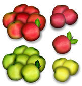 Set of apples — Stock Photo