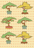 Vector Illustration of Bonsai Trees's drawing — Stock Vector