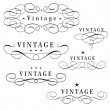 Vintage monograms — Stock Vector