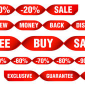 Discount tags and labels — Stock Vector