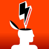 Human head brainstorming — Stock Vector