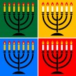 Stock Vector: Menorah