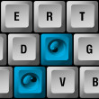 Royalty-Free Stock Vector Image: Computer keyboard