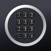 Phone keypad — Stock Vector
