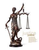 Starožitný socha spravedlnosti — Stock fotografie
